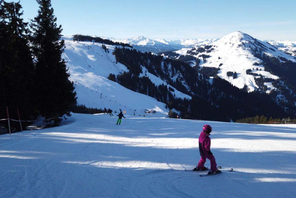 Skigebied scheffau met kinderen