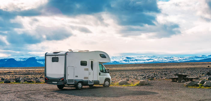 camper ijsland