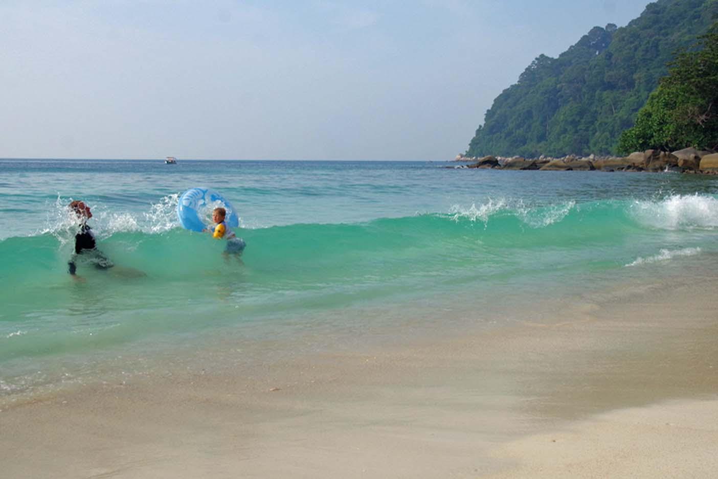 Perhentian eilanden met kinderen turtle beach