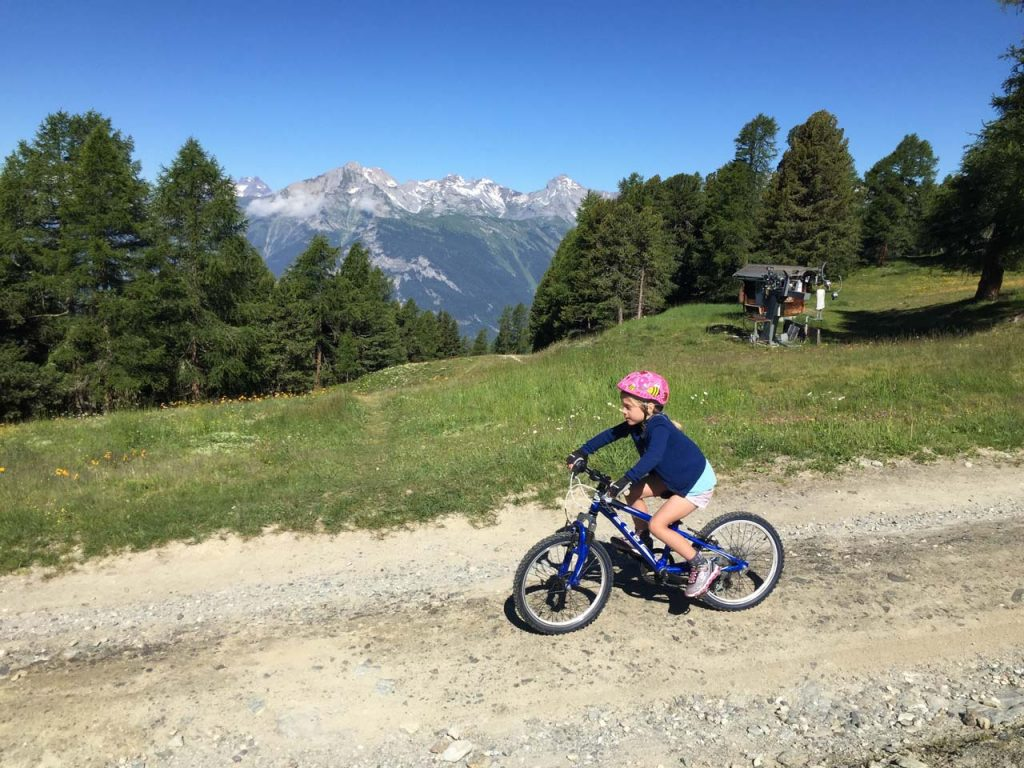 mountainbiken met kinderen