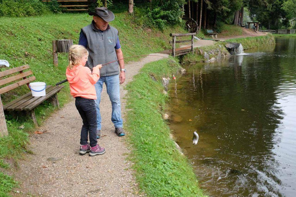 Vissen bij Lärchenteich