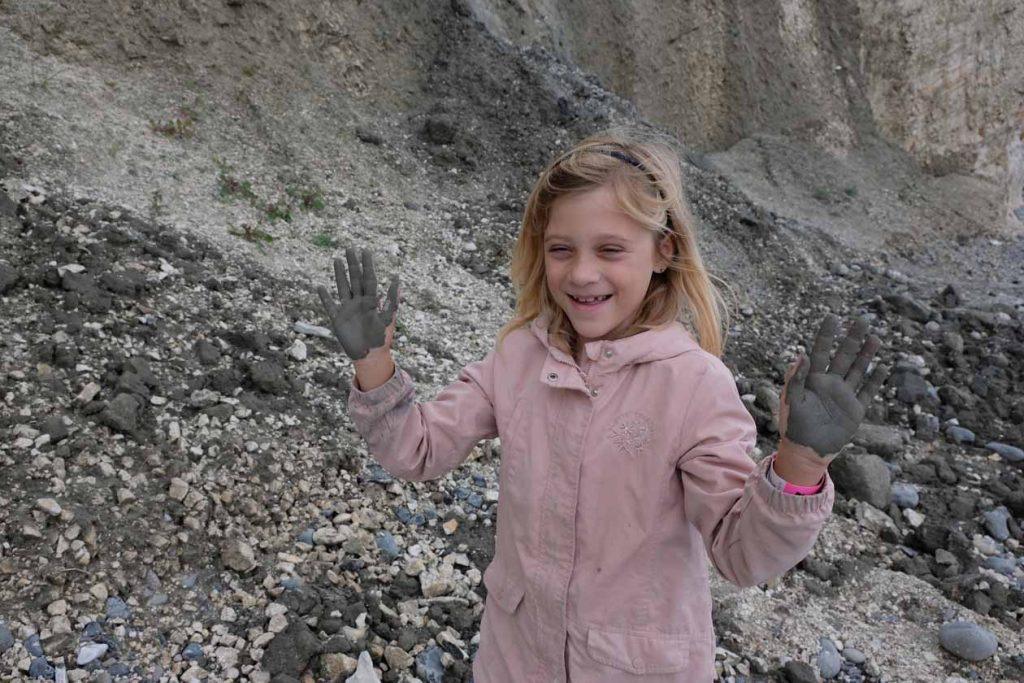 Fossielen zoeken Møns Klint
